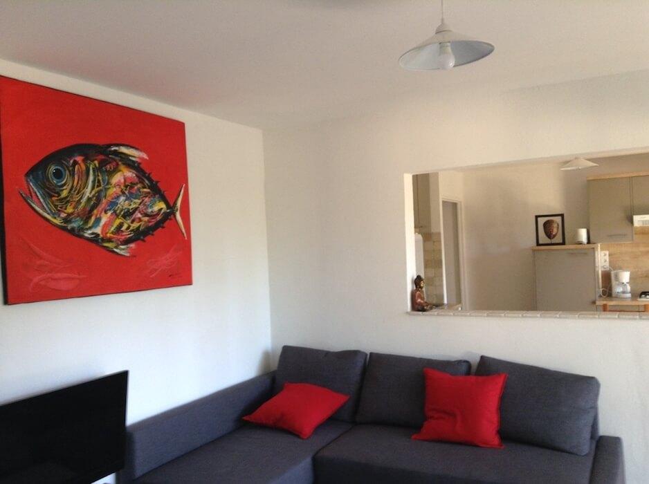 vue d'un appartement à la Villa Mio plamo Plongée