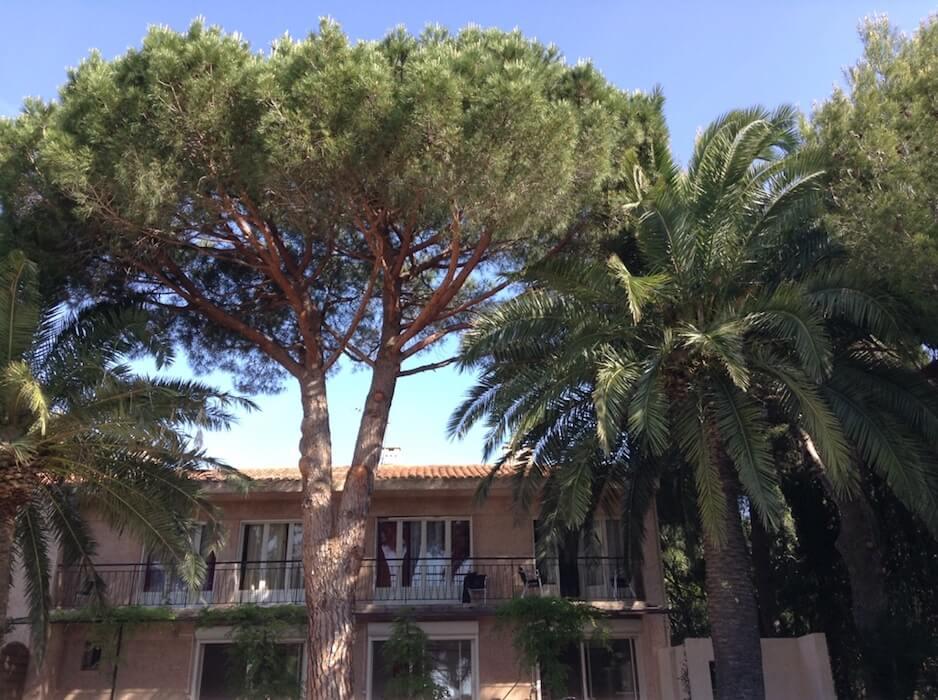 vue de la villa Mio palmo à Cavalaire