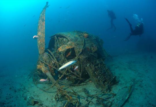 Plongée sous marine épave Le Wildcat  à Lavandou
