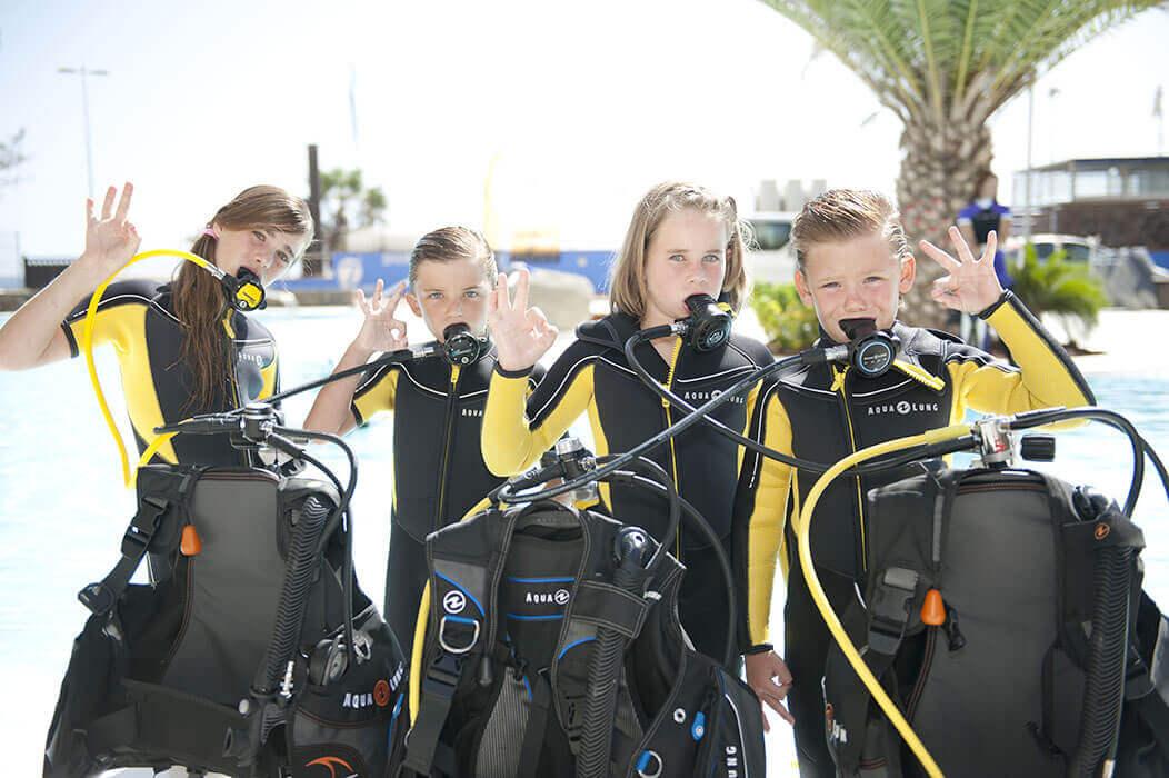 les enfants aussi peuvent se former à la plongée chez Mio Palmo